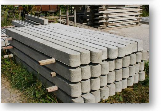 Słupki betonowe
